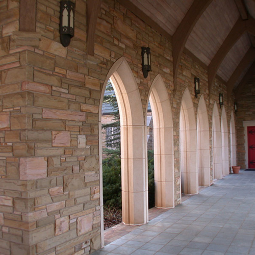 All Souls Episcopal Church Built With Rainbow Cut Mixed With Cut Abbey Stone