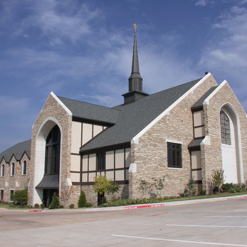 First Presbyterian Church of Edmond built with Rainbow Cut & Abbey Cut Stone