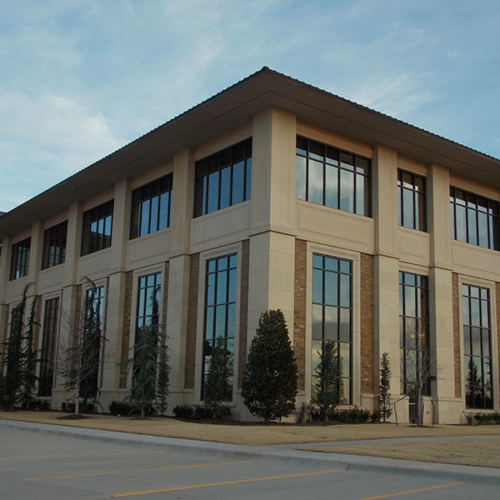 Hobby Lobby Headquarters Built With Honed Dover Gray & Midway Tumbled Stone