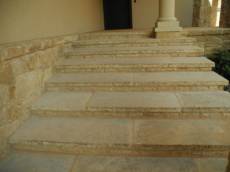 dover shell stairs second set | Richburg Stone