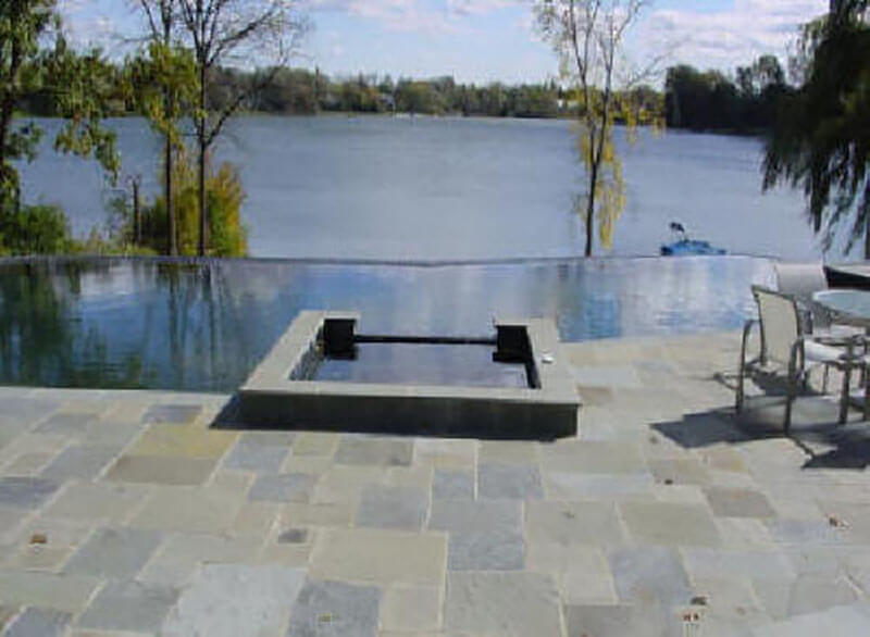 New York Bluestone Pool Flooring