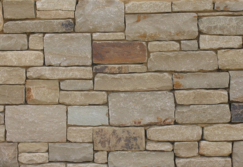 Abbey Tumbled Sandstone Mixed with Midway Brown Tumbled